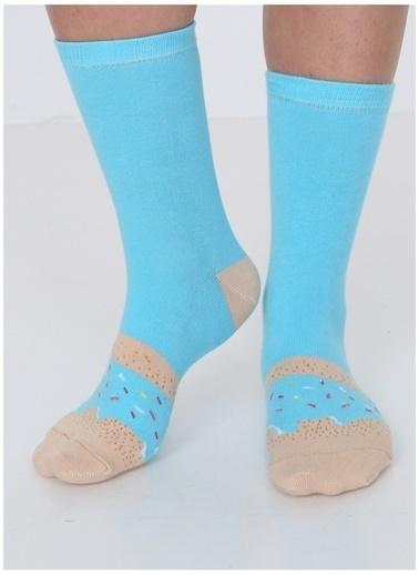 Socks+Stuff Socks&Stuff Blue Sprinkles Donut Çorap Mavi